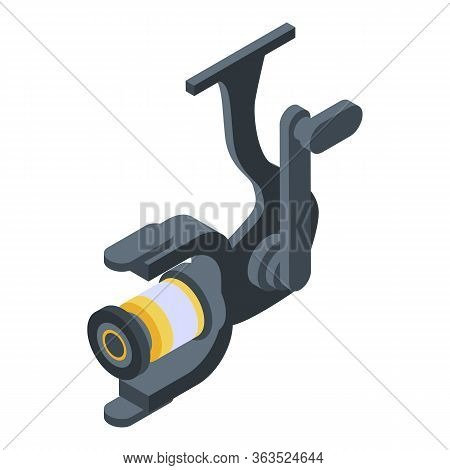 Fishing Spinning Reel Icon. Isometric Of Fishing Spinning Reel Vector Icon For Web Design Isolated O