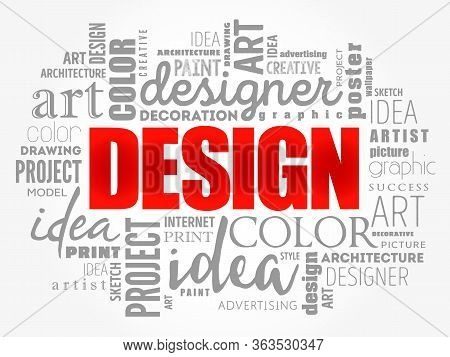 Design Word Cloud Collage, Creative Business Concept Background