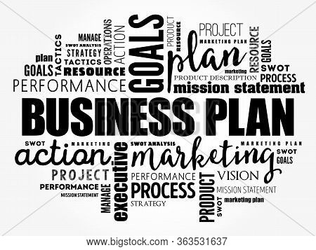 Business Plan Word Cloud Collage, Business Concept Background