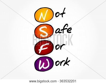 Nsfw - Not Safe For Work Acronym, Business Concept Background