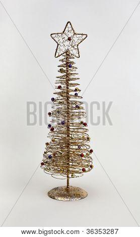 Gold Wire Xmas Tree