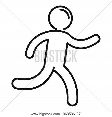 Running Kid Icon. Outline Running Kid Vector Icon For Web Design Isolated On White Background