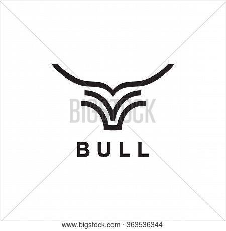 Simple Unique Cattle Logo Linear Design, Bovines,bison, Water Buffalo, Taurus And Simple Abstract Bu