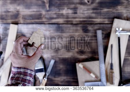 Vintage Woodworking Equipment For Diy And Work Tools For Carpenter And Craftsmanship. Happy Labor Da