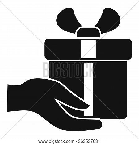 Fast Gift Box Shipment Icon. Simple Illustration Of Fast Gift Box Shipment Vector Icon For Web Desig