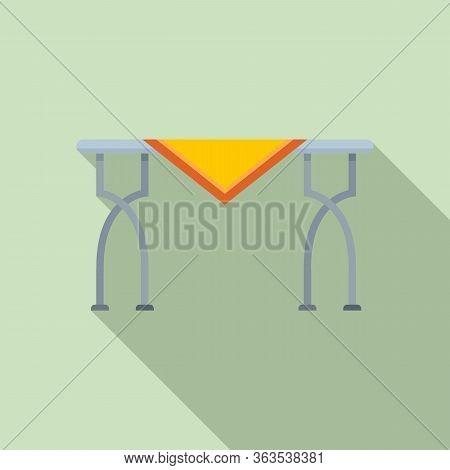 Metal Garden Table Icon. Flat Illustration Of Metal Garden Table Vector Icon For Web Design