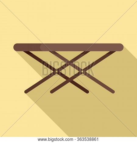 Portable Outdoor Table Icon. Flat Illustration Of Portable Outdoor Table Vector Icon For Web Design