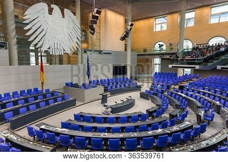German Reichstag, Main Hall Of The German Federal Parliament