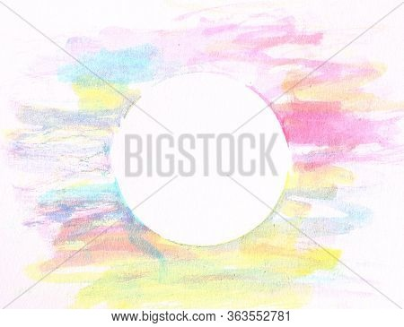Abstract Color Water Painting Background With Space