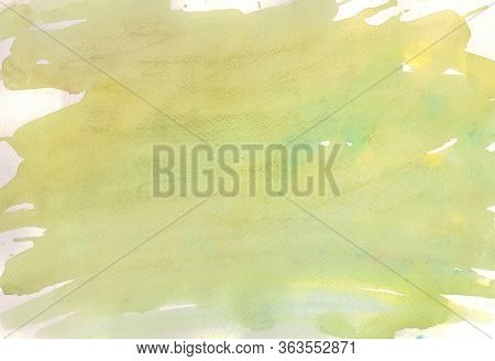 Soft Watercolor Background Paint By Brush , Copy Space , Art Background