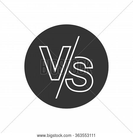Vs Versus Letters Vector Logo Line Icon Isolated On White Background. Vs Versus Symbol For Confronta