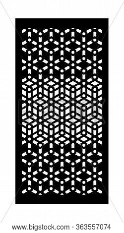 Decorative Vector Panel For Laser Cutting. Geometric Template For Interior Partition.