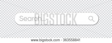 Search Bar, Search Boxes With Shadow On Transparent Background - Stock Vector. Eps 10