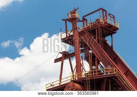 Sloss Furnaces National Historic Landmark, Birmingham Alabama Usa, Elegant Industrial Structure Isol