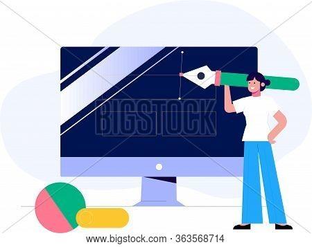 Ux Design Vector Illustration Concept, Suitable For Web Landing Page, User Interface, Mobile App, Ed