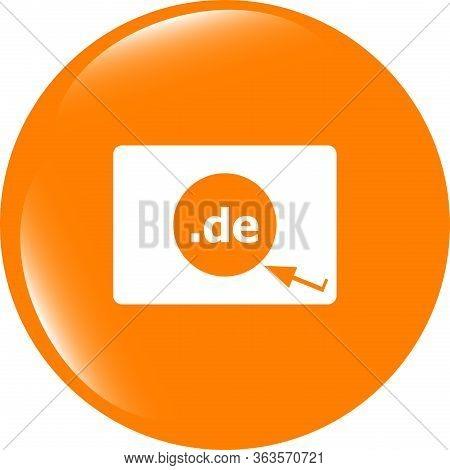 Domain De Sign Icon. Top-level Internet Domain Symbol