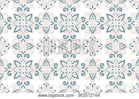 Azulejos Ceramic Tile Design. Talavera Tracery Motif. Unique Creative Endless Fill Swatch. Portugues