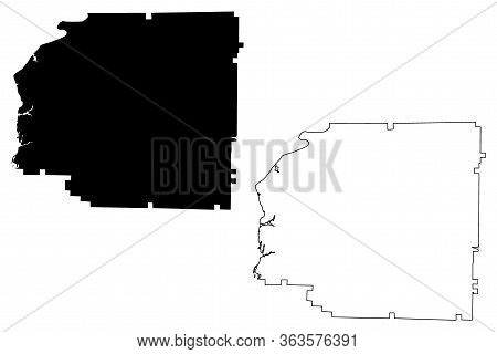 Stewart County, Georgia (u.s. County, United States Of America,usa, U.s., Us) Map Vector Illustratio