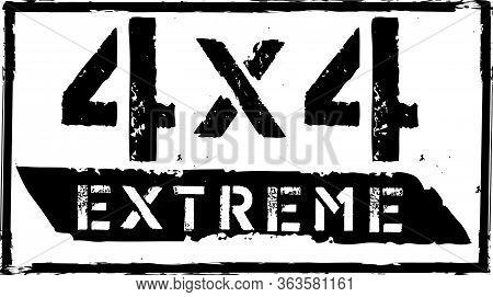 Off-road Emblem. Extreme Suv Logo Vector Illustration Stamp