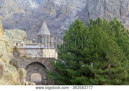 The Monastery Geghard, Located In The Mountains Of Armenia