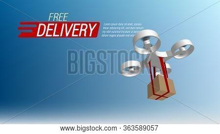 3d Drone Delivering A Package Autonomous Logistics
