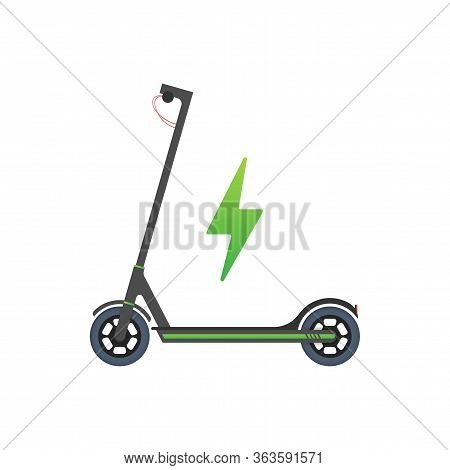 Electric Scooter Icon. Modern Lifestyle. Eco Transport For City Lifestyle. Scooter. Vector Stock Ill