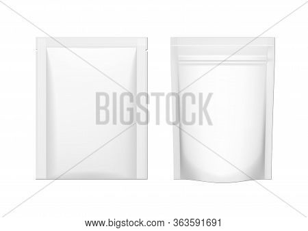 Two Blank Package Doy Pack And Sachet Pouch Pack.