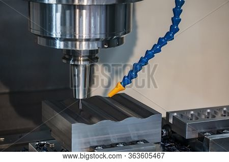 The Cnc Milling Machine Finishing Cut The Sample Parts By  Solid Ball  Endmill Tools. The Mold And D