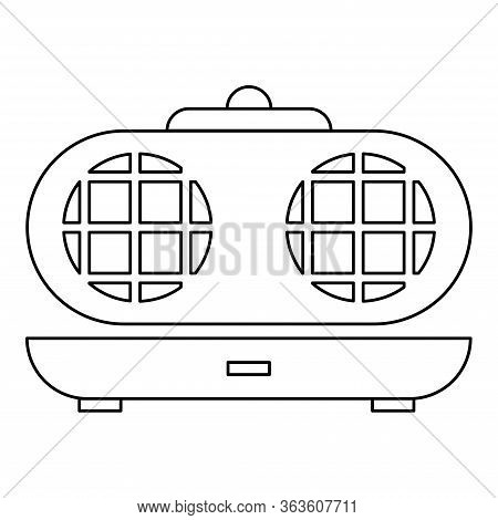 Kitchen Waffle-iron Icon. Outline Kitchen Waffle-iron Vector Icon For Web Design Isolated On White B
