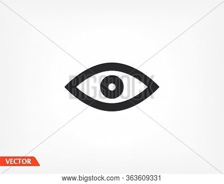 Eye Outline Line Icon Isolated On Beautiful Background. Eye Symbol For Website Design, Mobile App, L