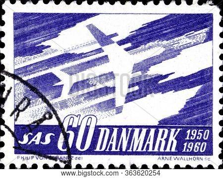 02.09.2020 Divnoe Stavropol Territory Russia Danish Postage Stamp 1961 The 10th Anniversary Of The S
