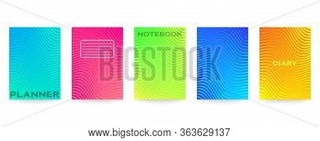 Minimal Vector Abstract Cover Notebook Design. Planner And Diary Cover For Print. Abstract Design Fo