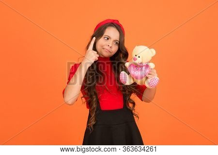 Imaginative Play. Strict Girl Play With Teddy Bear. Childhood Play. Playing With Toys. Toy Shop. Pla