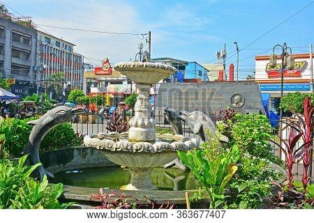 Manila, Ph - Oct. 7 - Santo Nino De Tondo Parish Water Fountain On October 7, 2017 In Tondo, Manila,