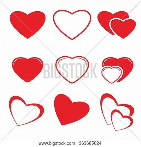 Heart Icon. Simple Heart, Love Logo. The Iconic Sign Of Love. Heart Icon Vector, Love Heart, Isolate