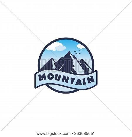 Mountain Logo, Mountain Logo Vector, Hill Logo, Mountain Symbol, Mountain Logo Template, Modern Styl