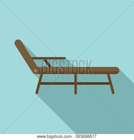 Deck Chair Icon. Flat Illustration Of Deck Chair Vector Icon For Web Design
