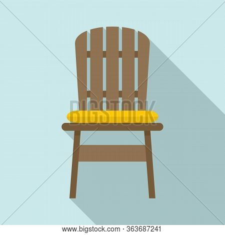 Comfortable Outdoor Chair Icon. Flat Illustration Of Comfortable Outdoor Chair Vector Icon For Web D