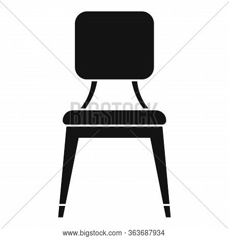 Leather Outdoor Chair Icon. Simple Illustration Of Leather Outdoor Chair Vector Icon For Web Design