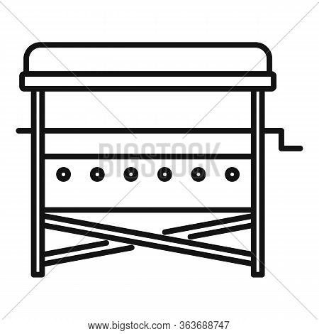 Bbq Yard Stand Icon. Outline Bbq Yard Stand Vector Icon For Web Design Isolated On White Background