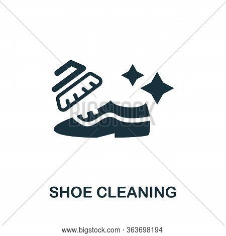 Shoe Cleaning Icon. Simple Illustration From Laundry Collection. Creative Shoe Cleaning Icon For Web