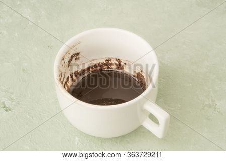Coffee Cup With Shapes Of Grounds For Fortunetelling