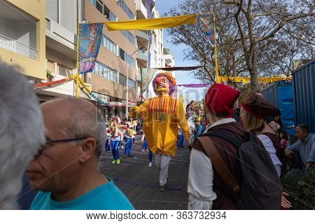 Man Disguised As A Giant In Loule Parade, Portugal