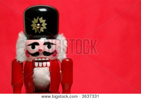 Nutcracker Straight On Red