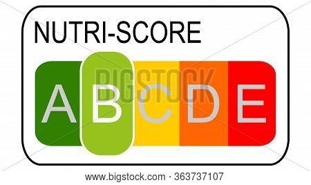 Nutri-score Label B, 5-colour Nutrition Label - Illustration