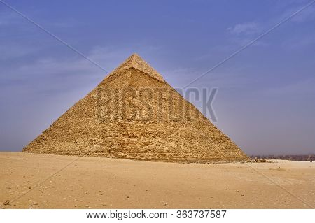 The Great Pyramid Of Giza In The Giza Pyramid Complex In Cairo, Egypt