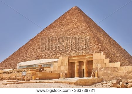 The Great Pyramid Of Giza (pyramid Of Khufu Or Pyramid Of Cheops) Is The Oldest And Largest Of The T
