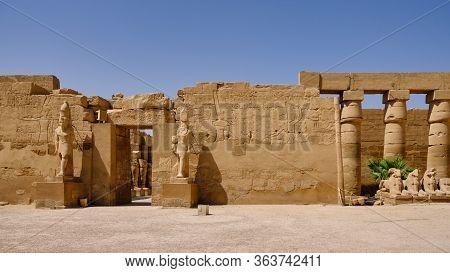 Karnak Temple Complex And Karnak Open Air Museum In Luxor, Egypt