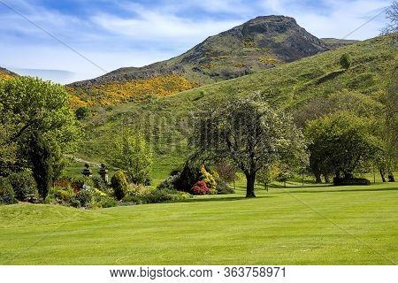 Arthur's Seat In Holyrood Park, Scotland