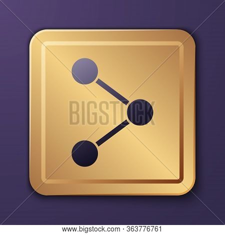 Purple Share Icon Isolated On Purple Background. Share, Sharing, Communication Pictogram, Social Med